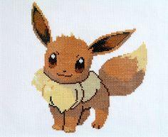 Eevee Pokémon Cross Stitch Pattern PDF Instant Download