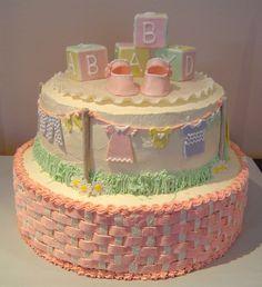 Pastel para baby shower. ¡Qué bonito!