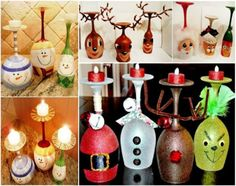 Christmas Wine Glass Candle Holders Diy Ideas   The WHOot