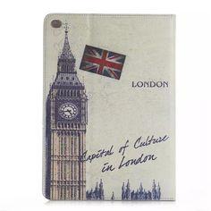 Stylische Ledertasche mit berühmten Gebäudewerken für iPad Air 2 - spitzekarte.com