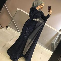 Dress With Sleeves Formal Classy - Dress Hijab Prom Dress, Hijab Evening Dress, Muslim Dress, Dress Outfits, Evening Dresses, Prom Dresses, Muslim Fashion, Hijab Fashion, Fashion Dresses