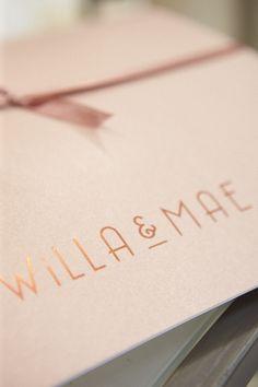 The best wedding present!  I LOVE the packaging  willaandmae.com