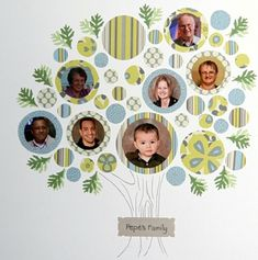 "8 Brilliant DIY Photo Gifts for Grandparents: ""Family Tree"""