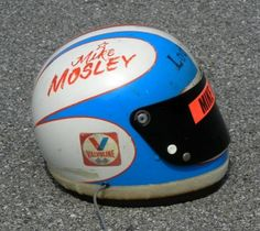 MIKE MOSLEY 1973 1974 LODESTAR LEADER CARDS SPECIAL BELL STAR HELMET