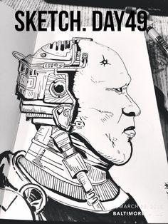 #sketchaday #artlove #penandink #nerds #art #sketchbook #artists #imayneednewglasses #pencils #acompanyofn3rds #sanctuary #n3rds #prismacolor #moleskine #camu #robocop