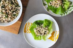Chicken Larb a Thai minced meat salad is made with ground chicken and a boat-load of flavor-packed goodies. Paleo Chicken Salad, Meat Salad, Chicken Salads, Chickpea Recipes, Healthy Salad Recipes, Fodmap Recipes, Paleo Recipes, Paleo Meals, Kitchens