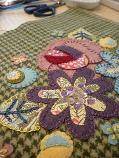 Applique ** I didn't put this under sewing since this type is by hand. So easy and many supplies we already have on hand - your scraps!! On a purse, bag, pillow!!