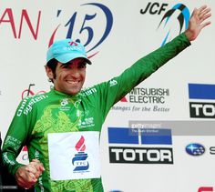 Mirsamad Pourseyedigolakhour of Iran and Tabriz Petrochemical Team celebrates winning the Tour of Japan on May 24, 2015 in Tokyo, Japan.