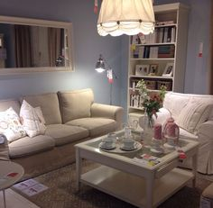 Ikea Living Room Ideas Ektorp ektorp 3-zitsbank, nordvalla lichtblauw | living rooms, ikea ikea
