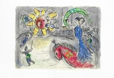 Marc Chagall (Russian/French, 1887-1985) Derrière le Miroir- Nos 235, 246 & 250  Three copies of the magazine, 1979-1982, on Arches, containing 28 lithographs printed in colours, 4 by Chagall, printed by Mourlot, published by Maeght, Paris,  each 380 x 280mm (15 x 11in) 3 vol