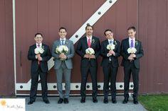 Silly Groomsmen strawberry farm golf club wedding pictures