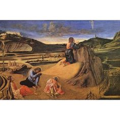 "Buyenlarge 'Christ at The Mount of Olives' by Giovani Bellini Painting Print Size: 44"" H x 66"" W x 1.5"" D"