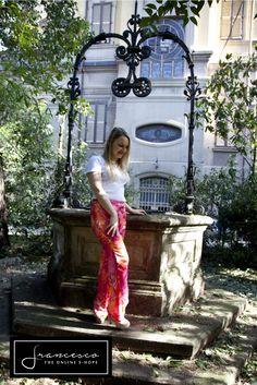 Versace pants, same print as jennifer lopez dress