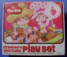 Strawberry Shortcake Play-doh set! loved this my mom would paint the little figures when they dried