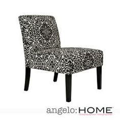 @Overstock.com - angelo:HOME Bradstreet Black and White Damask Upholstered Armless Chair - This beautiful angelo:HOME Bradstreet armless chair was designed by Angelo Surmelis. The Bradstreet chair is covered in a  damask black and creamy off-white woven fabric.  http://www.overstock.com/Home-Garden/angelo-HOME-Bradstreet-Black-and-White-Damask-Upholstered-Armless-Chair/6493827/product.html?CID=214117 $149.99