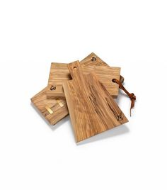 Andrea Brugi Italian Olive Wood Cutting Board With Leather Straps