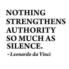 ...silence