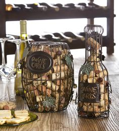Wine Cork Holder - Barrel or Bottle Wine Cork Holder, Wine Cork Crafts, Wine Decor, Wine Parties, Wine List, Cool Kitchens, Accent Decor, Wines, Bottle