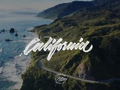 California in Typography