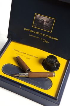 Limited edition fountain pen from Omas made from oak barrels of Chateau Lafite Rothschild.