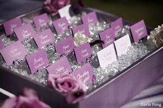I love how the purple and silver cards are displayed in a different but elegant way