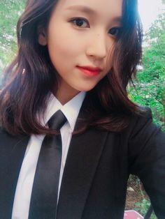 Post with 0 votes and 2730 views. Nayeon, Kpop Girl Groups, Korean Girl Groups, Kpop Girls, Jyp Fans, Women Wearing Ties, Sana Momo, Myoui Mina, Women Ties