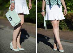 .: Mint + White :. #DIY #polkadot #blouse