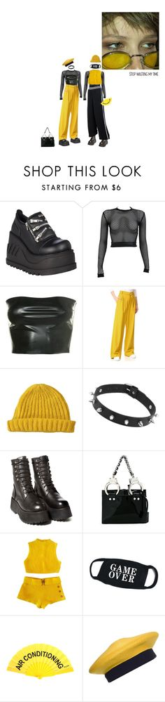 """""""the bells getting loud"""" by rojinnn ❤ liked on Polyvore featuring Demonia, PAM, TIBI, Lowie, Puma, Moschino and Donna Karan"""
