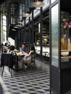 Cafe in kuala lumpur, look at the tiles! From Marjon Hoogervorst