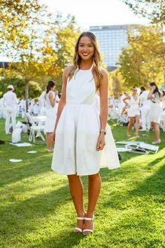 White gala dress