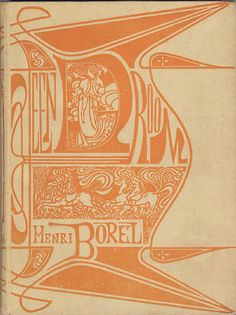 Een droom! Book Cover by Jan Toorop, 1899, 'A dream' by Henri Borel.