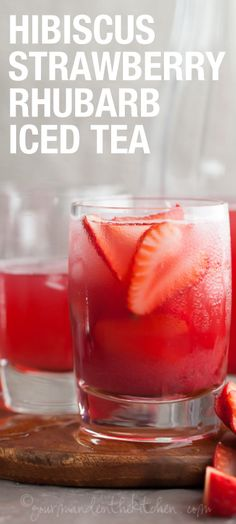 You have to try this strawberry iced tea out form one of out partners!  It's deliciously healthy and is the perfect summer drink!