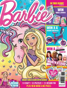 Make sure to get the April issue of Barbie magazine – out 27 March 2017! We are running an awesome competition where you can WIN one of four Barbie Bicycles plus kit, valued at R1 600 each! Magazine is available from major retailers or from www.coolmags.com.  Good Luck!  #Barbie #Win #competition #bicycle #pink #girls #pretty #youcanbeanything #toys #sport