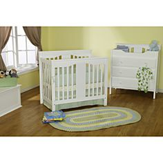 @Overstock - The Annabelle Mini Crib is the perfect space-saving addition for a smaller nursery. With wooden bed rails, it also converts into a twin bed for when baby is all grown up.http://www.overstock.com/Home-Garden/DaVinci-White-Annabelle-Mini-Crib/6298091/product.html?CID=214117 Add to cart to see special price