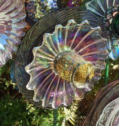 Items similar to Iridescent Purple Delight Glass Flower Art on Etsy