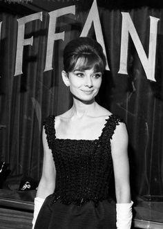 Audrey Hepburn at the Rome, Italy premiere of Breakfast At Tiffany's November 17th, 1961.