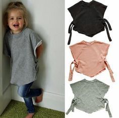 Make a child's wrap-around top from an old raglan sweater with a tight neck.