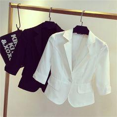 女性ブレザー上着2017春と秋女性スーツスリムデザイン女性ブレザー白スーツファッションジャケットコートファムMZ697