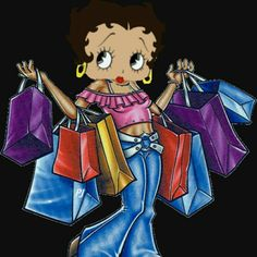Betty Boop ready for shopping! Betty Boop Cartoon, Cute Cartoon, Baby Cartoon, Imagenes Betty Boop, Black Betty Boop, Boop Gif, Animated Cartoon Characters, Gifs, Betty Boop Pictures