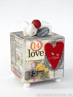 Stamptramp: Shabby Valentine Artist Trading Block