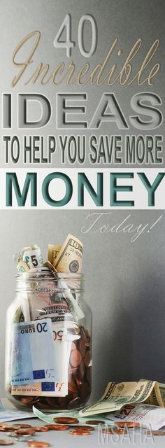 Looking for ways to save money? Learn from these 40 money saving ideas that have helped others to save more money today.