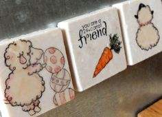24 Carrot Friend Easter Magnets Set of 3 by MyLittleChick on Etsy, $8.00