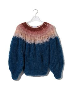 Pleated Sweater Gradient_Petrol