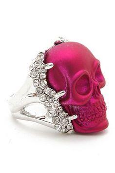 Hot Pink skull with crystals Skull Jewelry, Jewelry Box, Jewelry Accessories, Fashion Accessories, Unique Jewelry, Metal Skull, Skull Art, The Bling Ring, Pink Skull