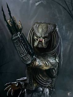 Predator: Yautja by shiprock on DeviantArt Alien Vs Predator, Predator Cosplay, Predator Alien, Arte Horror, Horror Art, Alien Queen, Alien Races, Alien Art, Futuristic Art