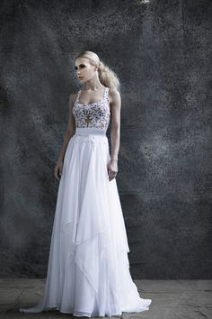 Wedding dress //Dafni// #lace #chiffon #bride Couture Wedding Gowns, Wedding Dresses, Fairytale Bridal, Pure Romance, Bridal Collection, Body Shapes, Fairy Tales, Lace Chiffon, Pure Products