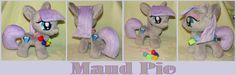 Maud Pie mini-pony with rock candy necklace by krumm33.deviantart.com on @DeviantArt