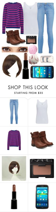 """Frisk (Undertale)"" by thefnaftheorists ❤ liked on Polyvore featuring mode, Current/Elliott, Majestic, Stella Jean, Timberland, Sankins, NARS Cosmetics, Giorgio Armani et Samsung"