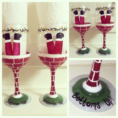 https://www.etsy.com/shop/buttonwoodboutique  Hand painted wine glasses