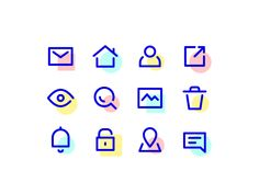 Icons Discover UI icons UI icons by Filippo Borghetti Flat Design Icons, App Ui Design, Icon Design, Logo Design, Flat Icons, Design Design, Design Thinking, Layout, Icons Web